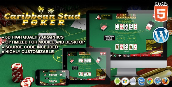 Caribbean Stud Poker - HTML5 Casino Game - CodeCanyon Item for Sale