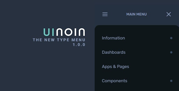 UINOIN - jQuery New Type JSON Menu - CodeCanyon Item for Sale