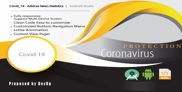 Covid 19 - Advices News Statistics - Android Template UI