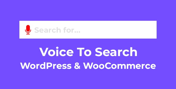 Voice To Search for WordPress & WooCommerce - CodeCanyon Item for Sale