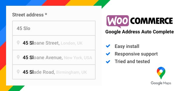 WooCommerce Google Address Auto Complete