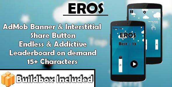 Eros - Jumping Ninja (iOS X Code & Build box Game Template)