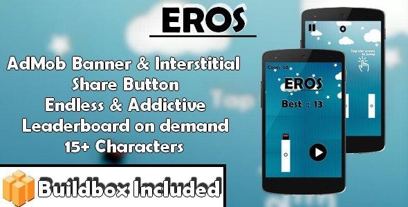 Eros - Jumping Ninja (iOS X Code & Build box Game Template) - CodeCanyon Item for Sale