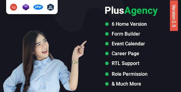 PlusAgency - Multipurpose Website CMS & Business Agency Management System