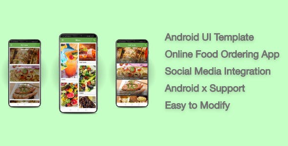 Food Online - Android UI Template