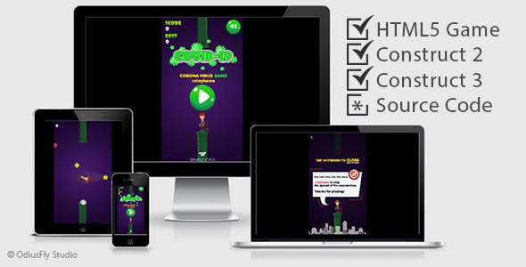Coronavirus (COVID-19) - HTML5 Game (Construct 2 + Construct 3)