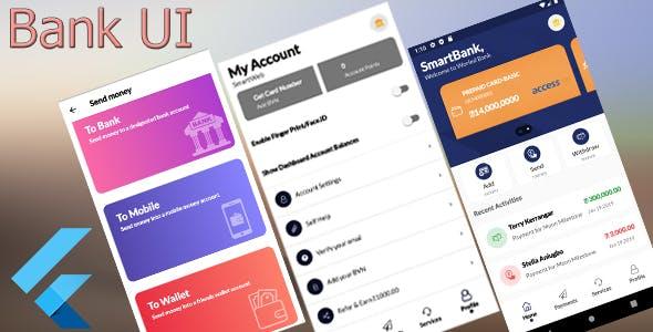 Smart Bank Flutter UI