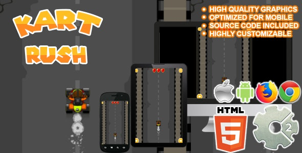 Kart Rush - ( Biker Game | Capx and HTML5 ) - CodeCanyon Item for Sale