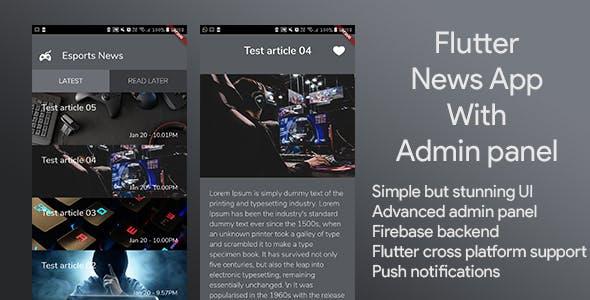 Flutter news app