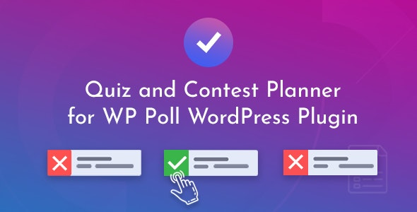 Quiz and Contest Planner for WP Poll - CodeCanyon Item for Sale