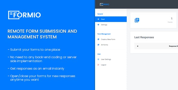 Formio - Remote Form Submisson and Management System