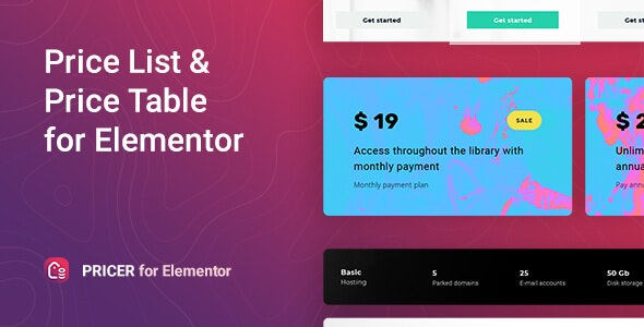 Pricer – Price List for Elementor - CodeCanyon Item for Sale
