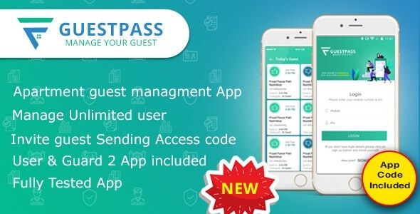 Guest Pass – Apartment Guest Management App - CodeCanyon Item for Sale