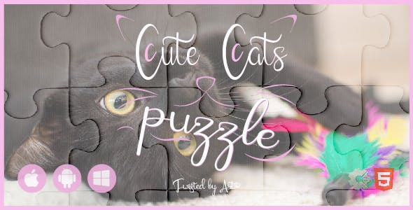 Cute Cats Puzzle • HTML5 + C2 Game