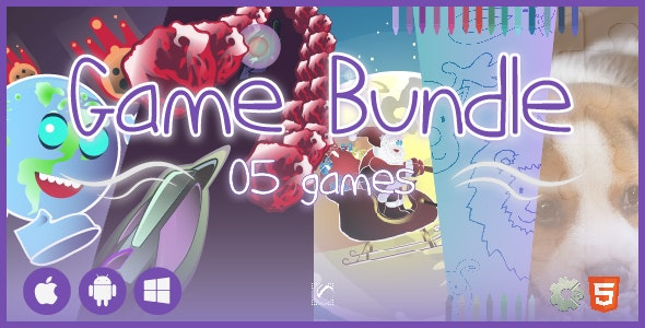 5 Games Bundle 01 • 50% OFF • HTML5 + C2 Games - CodeCanyon Item for Sale