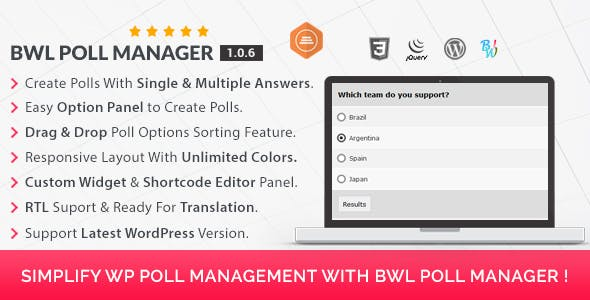 BWL Poll Manager