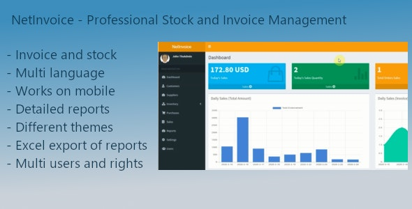 NetInvoice   Professional Stock and Invoice Management - CodeCanyon Item for Sale