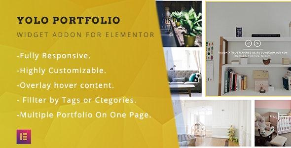 Yolo Portfolio - Advance Portfolio Gallery for Elementor Page Builder WordPress - CodeCanyon Item for Sale