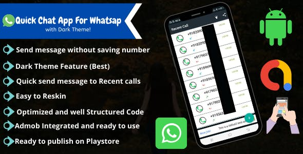 Quick Chat App For WhatsApp