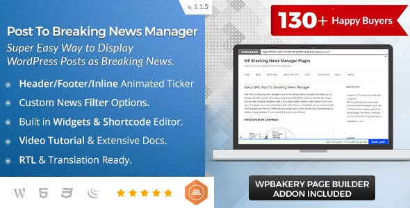 BWL Post To Breaking News Manager - CodeCanyon Item for Sale
