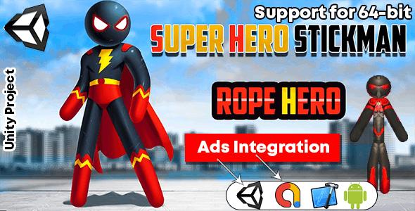 Spider Stickman Rope Hero 2 - Gangster Crime City - Gangster Crime City GAME Unity 3 - CodeCanyon Item for Sale