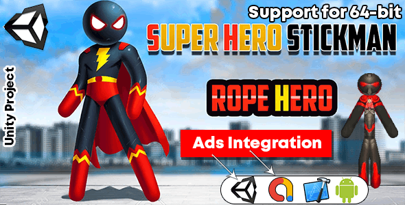 Spider Stickman Rope Hero 2 - Gangster Crime City - Gangster Crime City GAME Unity 3