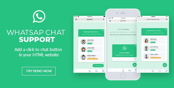 WhatsApp Chat Support - jQuery Plugin