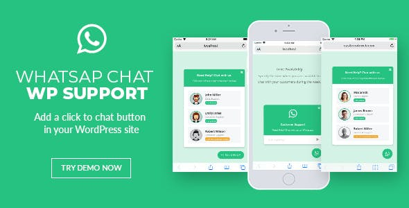 WhatsApp Chat Support - WordPress Plugin