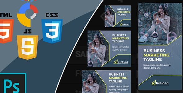 Preload - HTML5 Animated Banner Template