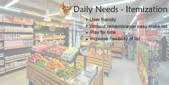 Daily Needs-Itemization
