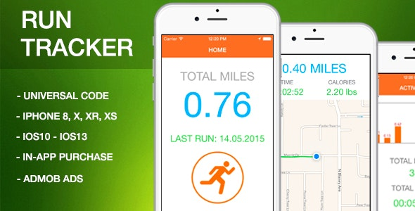 Run Tracker - Full App Source Code - CodeCanyon Item for Sale