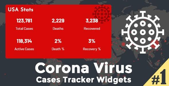 Corona Virus Cases Tracker Widgets - COVID-19 Coronavirus Map, Table & Stats Widgets - CodeCanyon Item for Sale