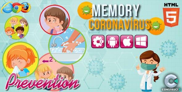 Memory Coronavirus - HTML5 Game (CAPX)