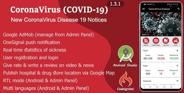 CoronaVirus Disease (COVID-19) - CodeCanyon Item for Sale