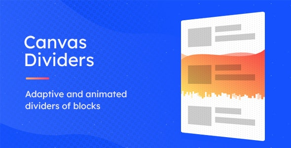CDivs – Adaptive and Animated Canvas Dividers of Blocks - CodeCanyon Item for Sale