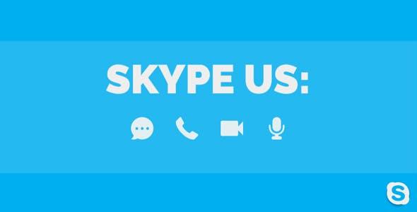 Skype Us - skype action for WordPress