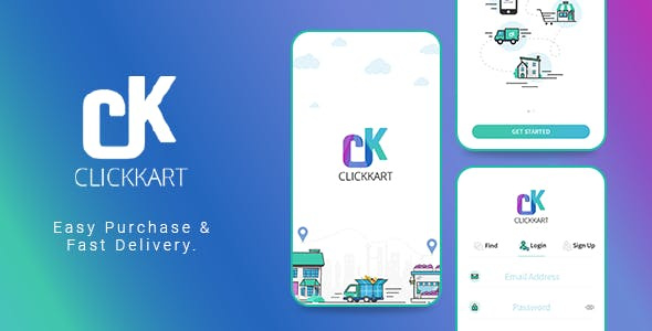 Multi Vendor Shopping Android App | Clickkart