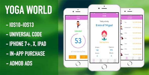 Yoga World - Meditation and Relaxation (Full App Source Code)