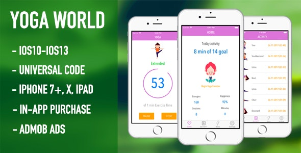 Yoga World - Meditation and Relaxation (Full App Source Code) - CodeCanyon Item for Sale