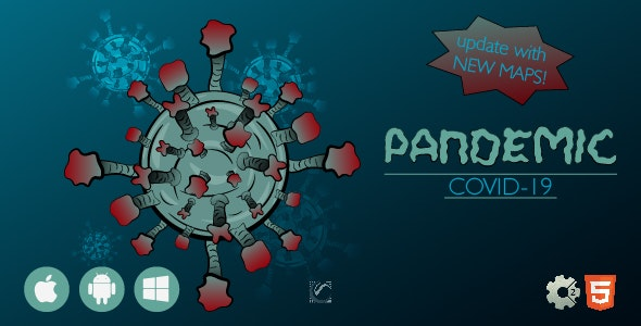 Pandemic Covid-19 • HTML5 + Construct Game - CodeCanyon Item for Sale