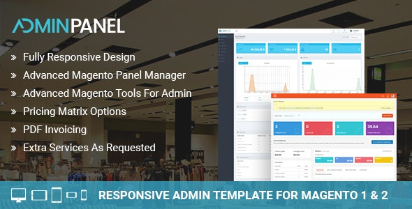 Magento 2 Responsive Admin Template - CodeCanyon Item for Sale