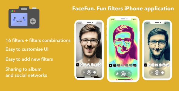 FaceFun. Fun filters iPhone application