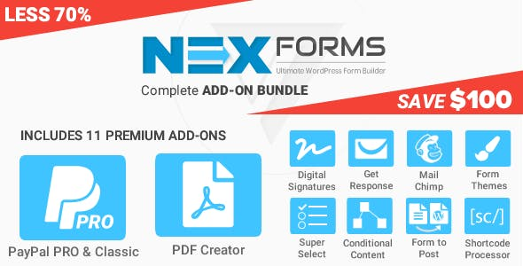 Add-on Bundle for NEX-Forms - WordPress Form Builder
