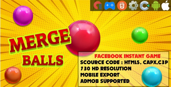 Merge Balls -  HTML5 Game - Mobile, Facebook Instant Game & Web (HTML5 & C2,C3) - CodeCanyon Item for Sale