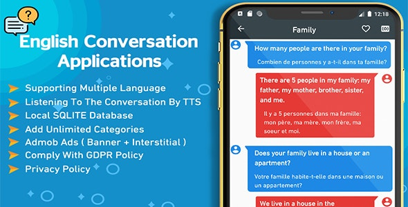 English Conversation : TTS - Local & Push Notification - CodeCanyon Item for Sale