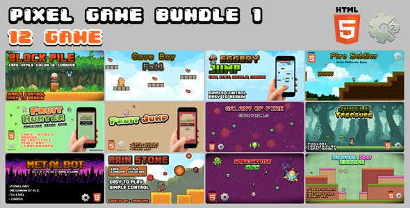 Pixel Game Bundle 1 (12 GAME) - CodeCanyon Item for Sale
