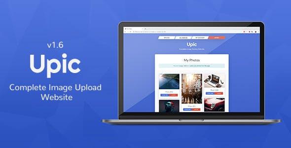 Upic - Complete Image Hosting Website