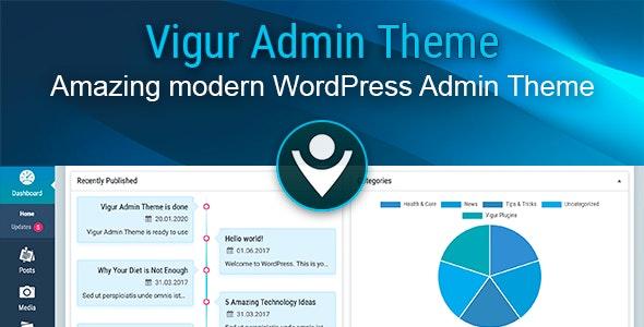 Vigur Theme - WordPress Admin Theme - CodeCanyon Item for Sale