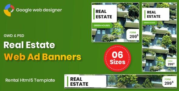 Real Estate Banners Google Web Designer