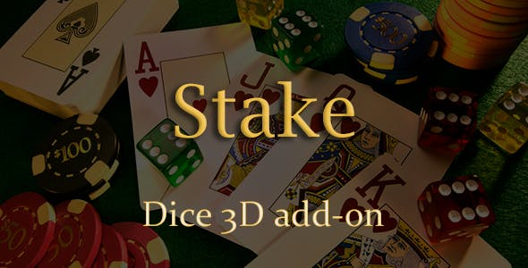 Dice 3D Add-on for Stake Casino Gaming Platform